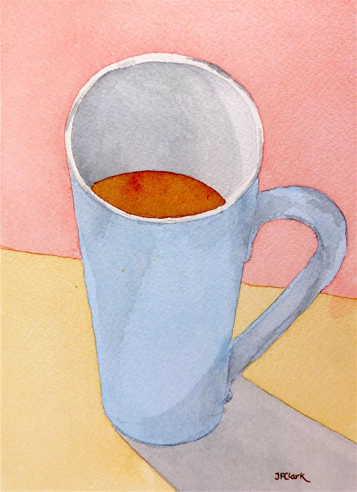 """I Love Coffee"" original fine art by Judith Freeman Clark"