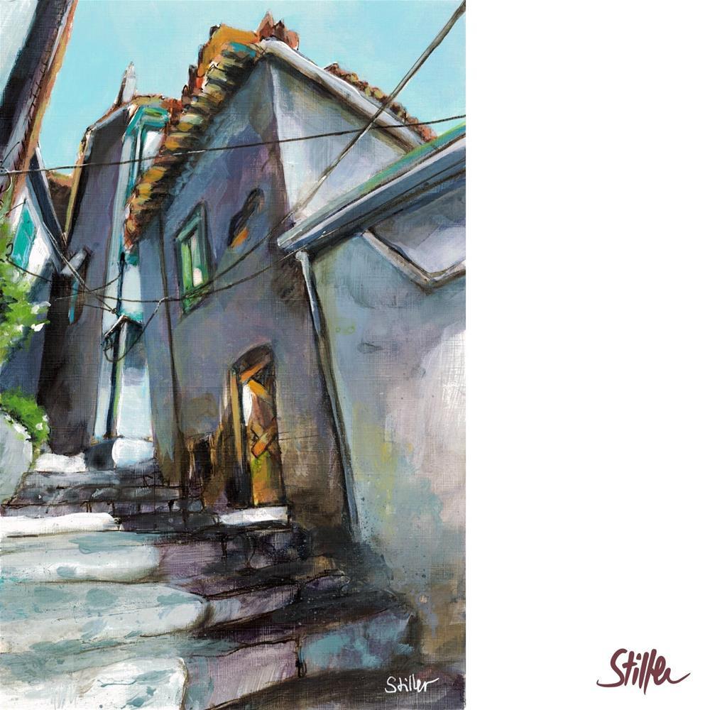 """3510 Greek Alley III"" original fine art by Dietmar Stiller"