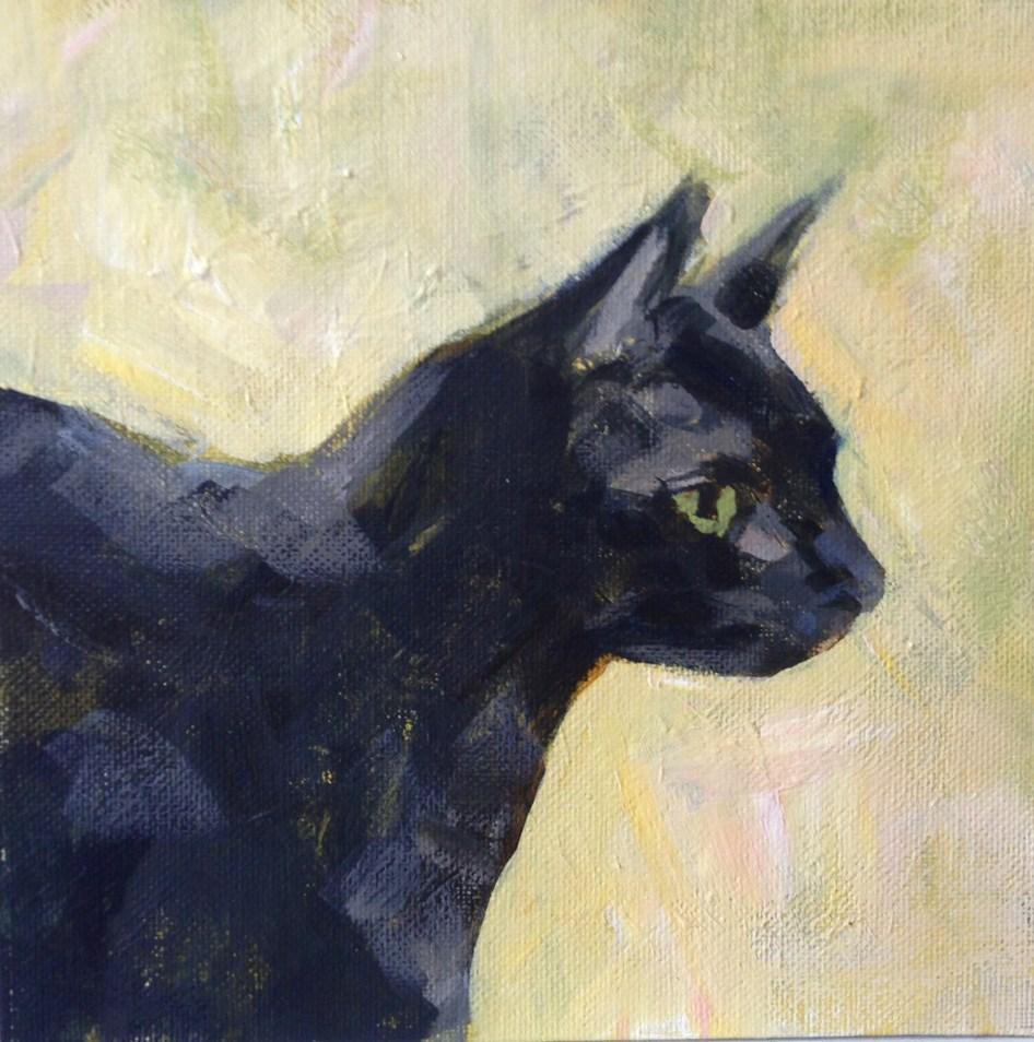 """""""Curious Cat"""" original fine art by Shannon Bauer"""