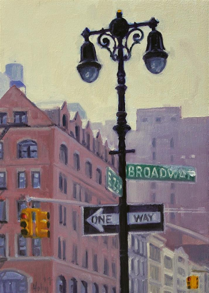 """Broadway and 23rd, 2"" original fine art by Ski Holm"