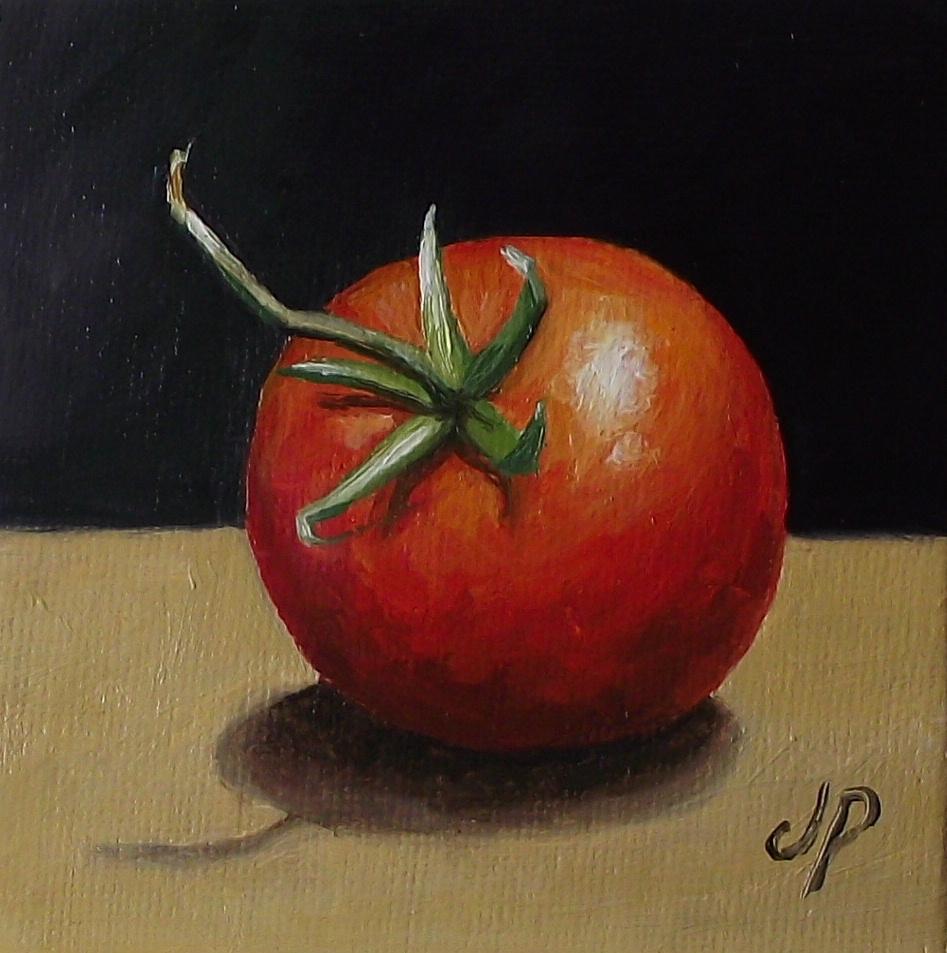"""Tomato"" original fine art by Jane Palmer"