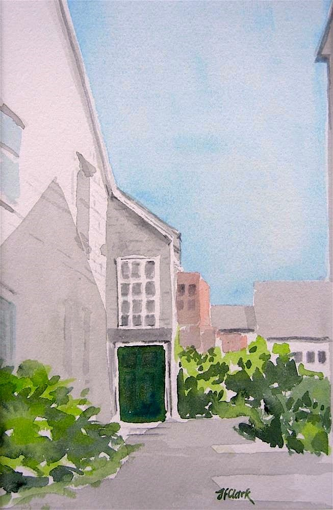 """New Bedford Doorway"" original fine art by Judith Freeman Clark"