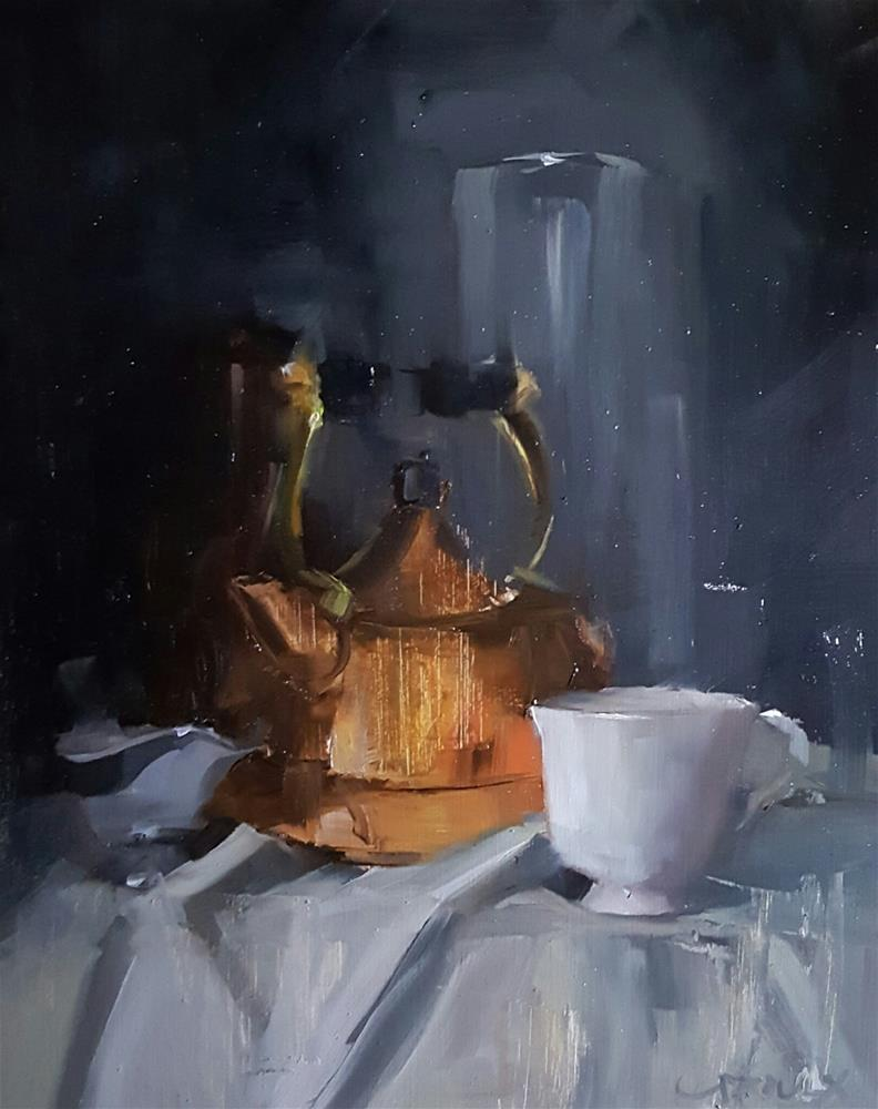 """Nightly Tea"" original fine art by Cory Proulx"
