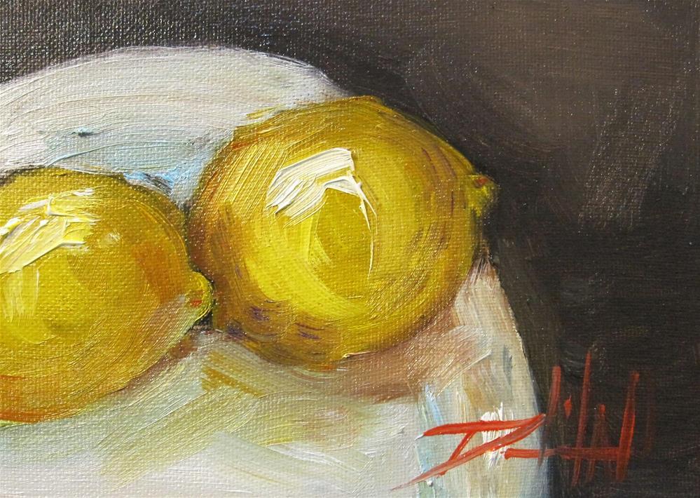 """Two  Lemons No. 2"" original fine art by Delilah Smith"