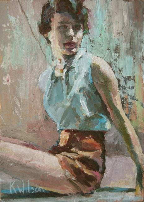 """""""Brown Shorts"""" original fine art by Katie Wilson"""