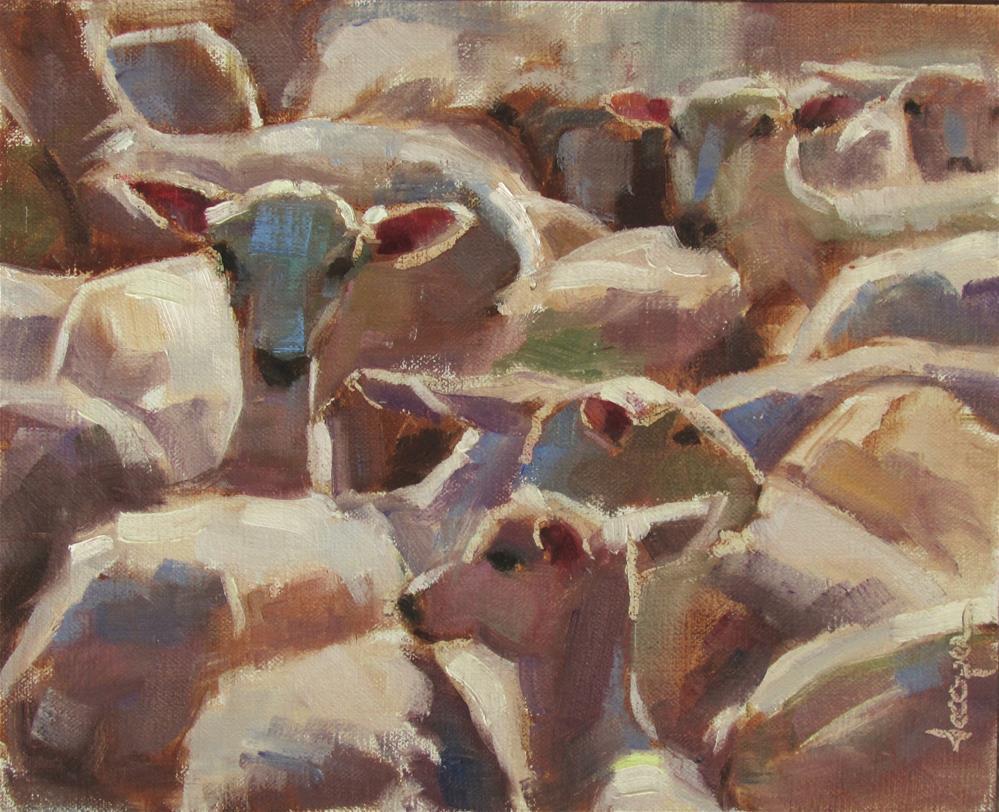 """Sheep Abstraction"" original fine art by Dana Cooper"