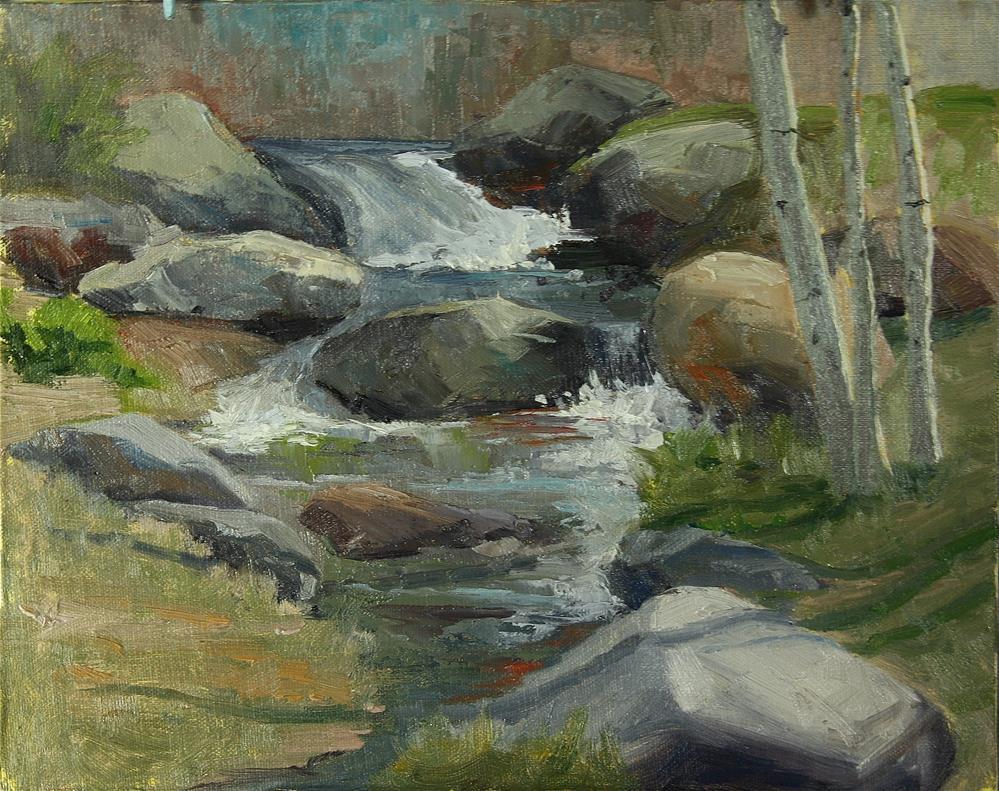 """""""Hudson Garden Flow"""" original fine art by Sheila Marie"""