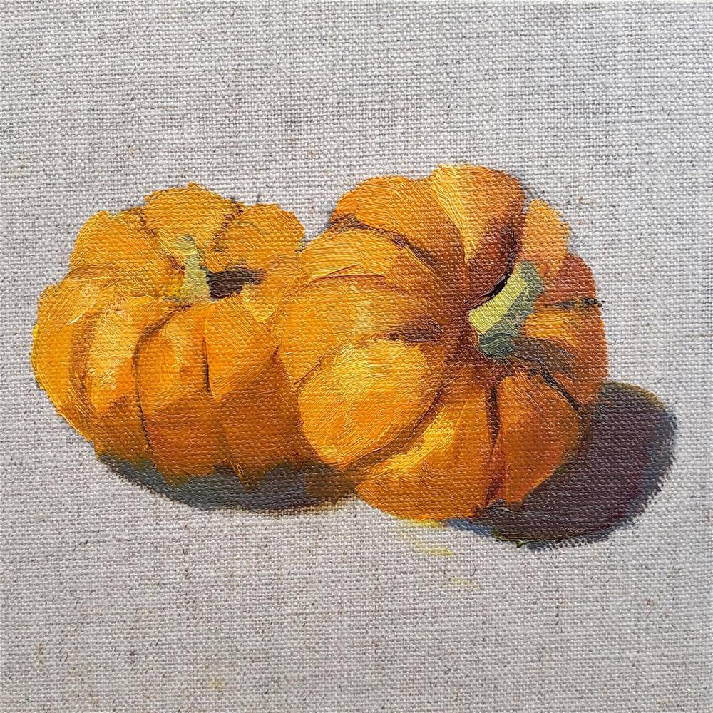 """Mini Pumpkins"" original fine art by Barbie Smith"
