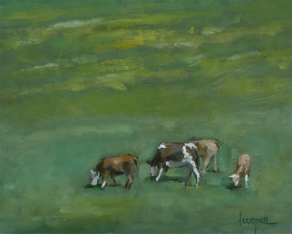 """Mustard Fields"" original fine art by Dana Cooper"