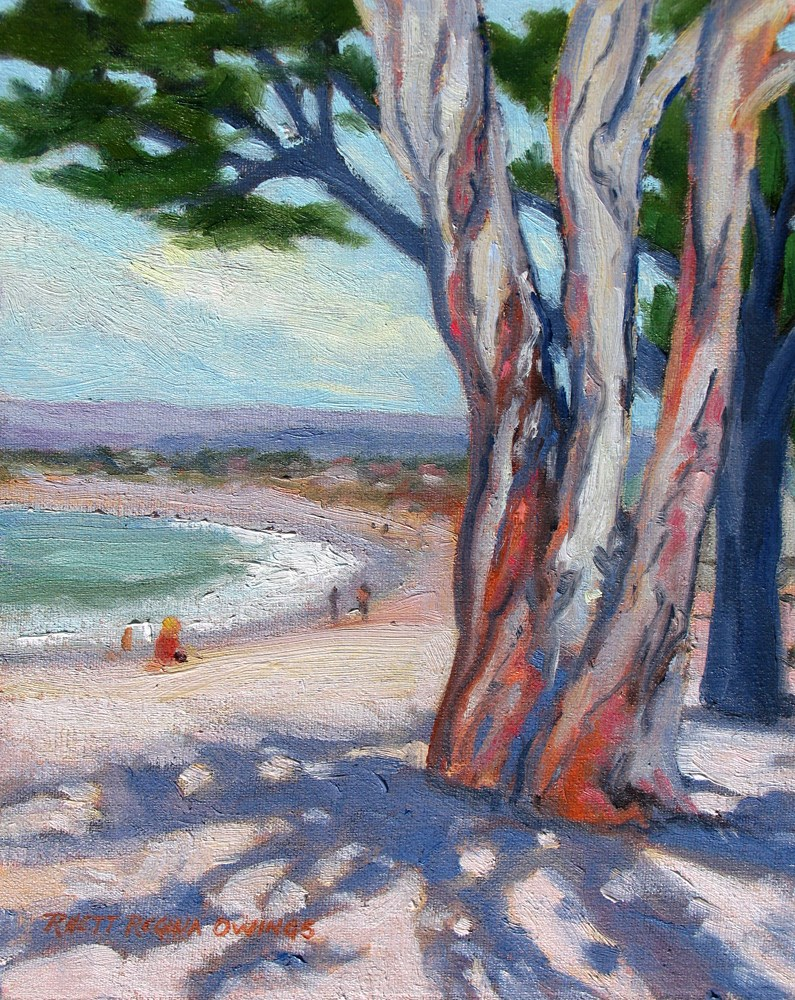 """Beach Shadows"" original fine art by Rhett Regina Owings"