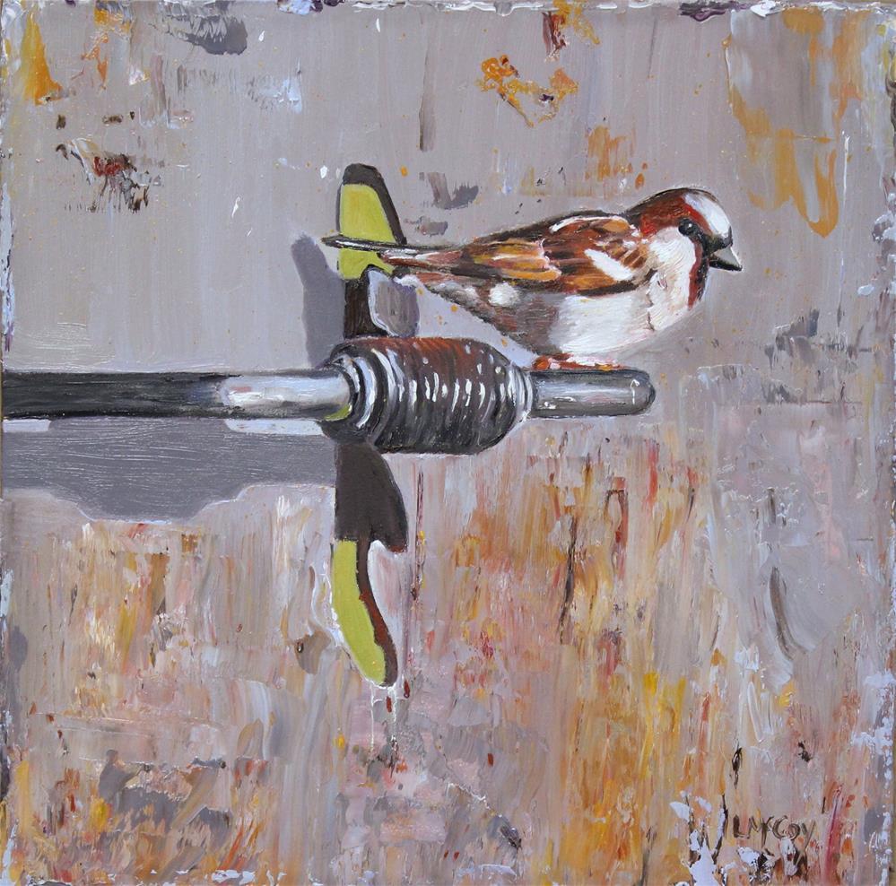 """De Mus (The Sparrow)"" original fine art by Linda McCoy"