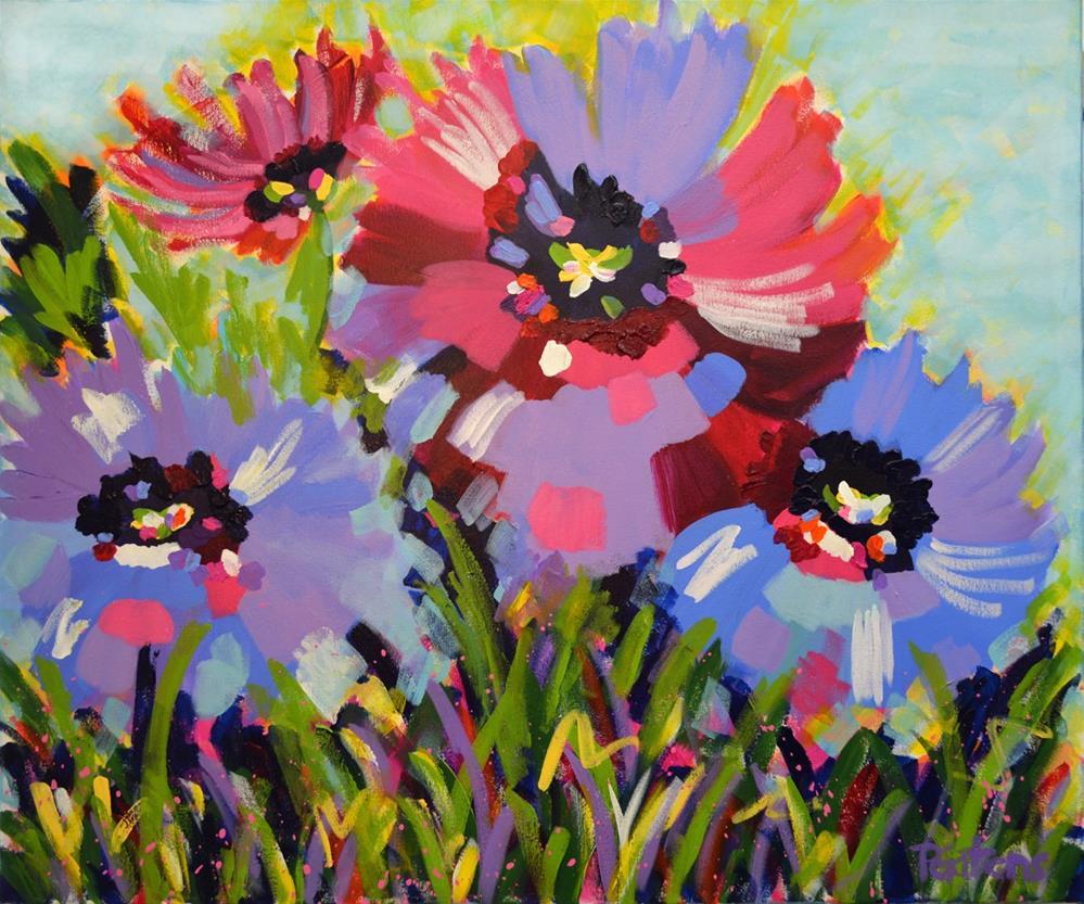 """Heavenly Blue Poppies"" original fine art by Pamela Gatens"