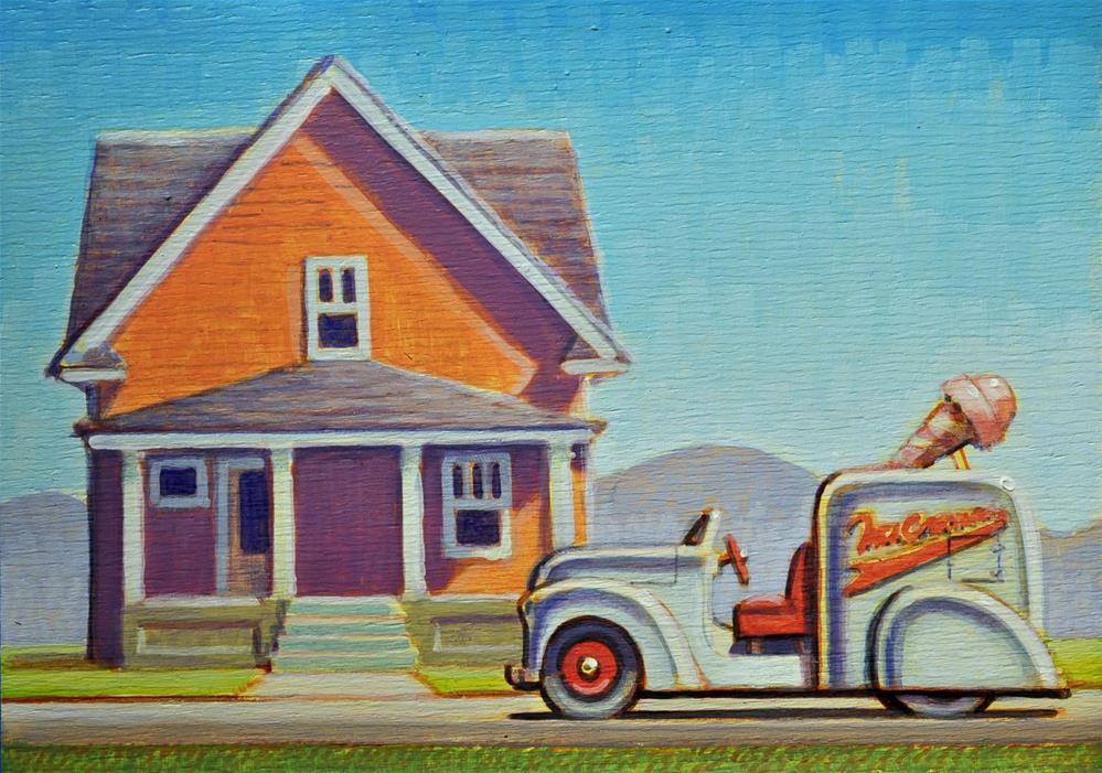 """""""Ice cream"""" original fine art by Robert LaDuke"""