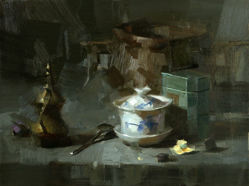 """""""Calm Down in Chaos"""" original fine art by Qiang Huang"""