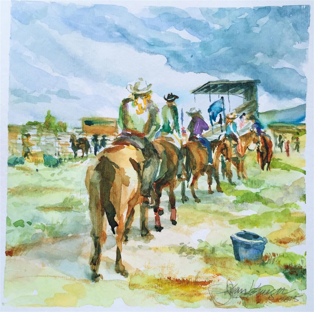 """Rodeo, Westcliffe, CO"" original fine art by Jean Krueger"