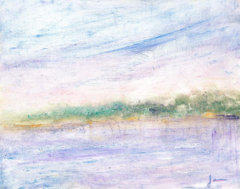 """Zen of the Lake"" original fine art by Janet Gunderson"