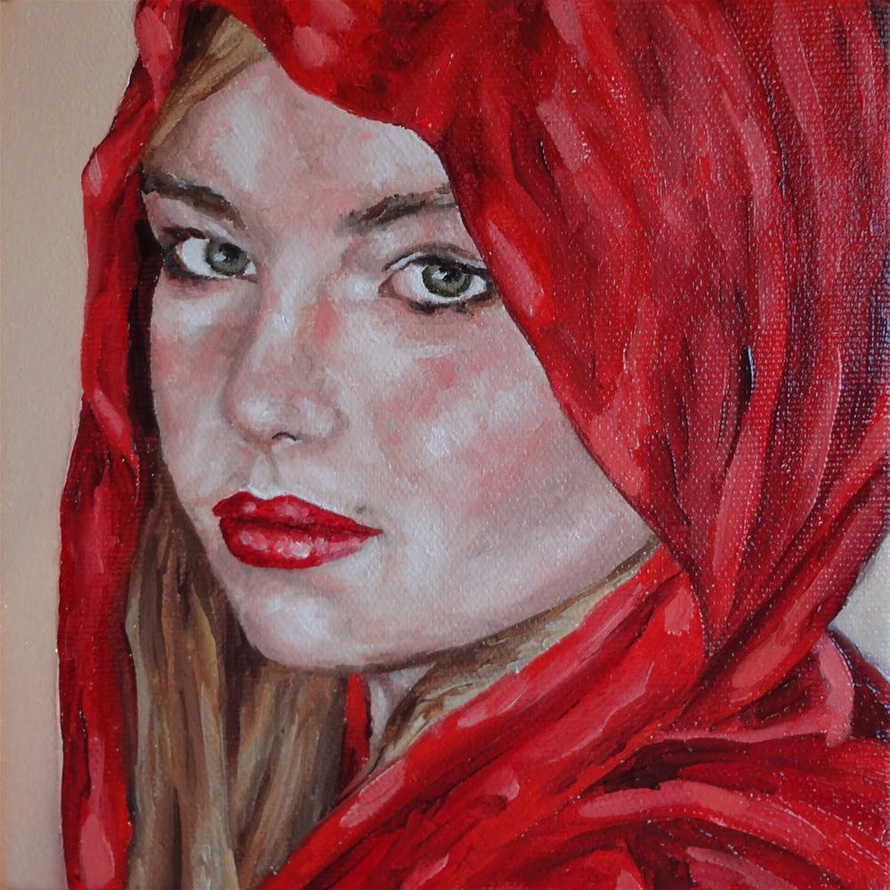 """Girl 1"" original fine art by Jacinthe Rivard"