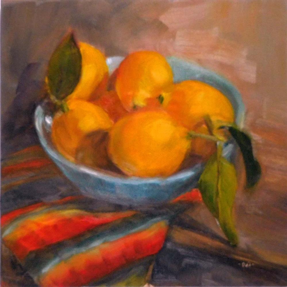 """Winter Lemons"" original fine art by Cietha Wilson"