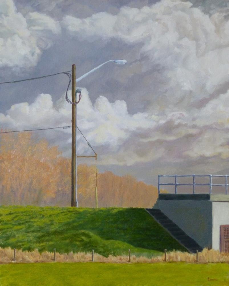 """""""March Morning Pumping Station"""" original fine art by Peter Lentini"""