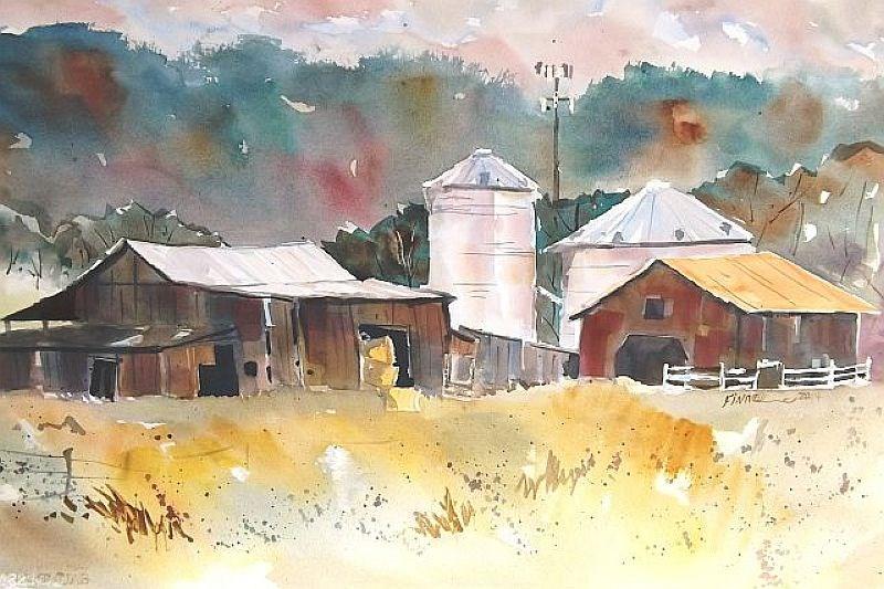"""The Dillender Farm"" original fine art by David Finnell"