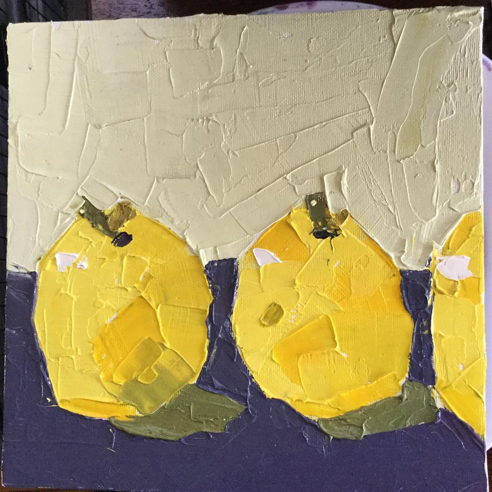 """Something lemonish"" original fine art by pamela kish"