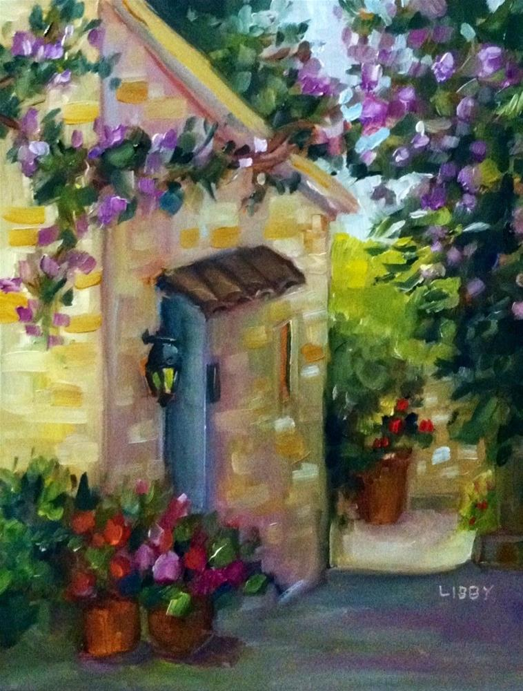"""""""In France"""" original fine art by Libby Anderson"""