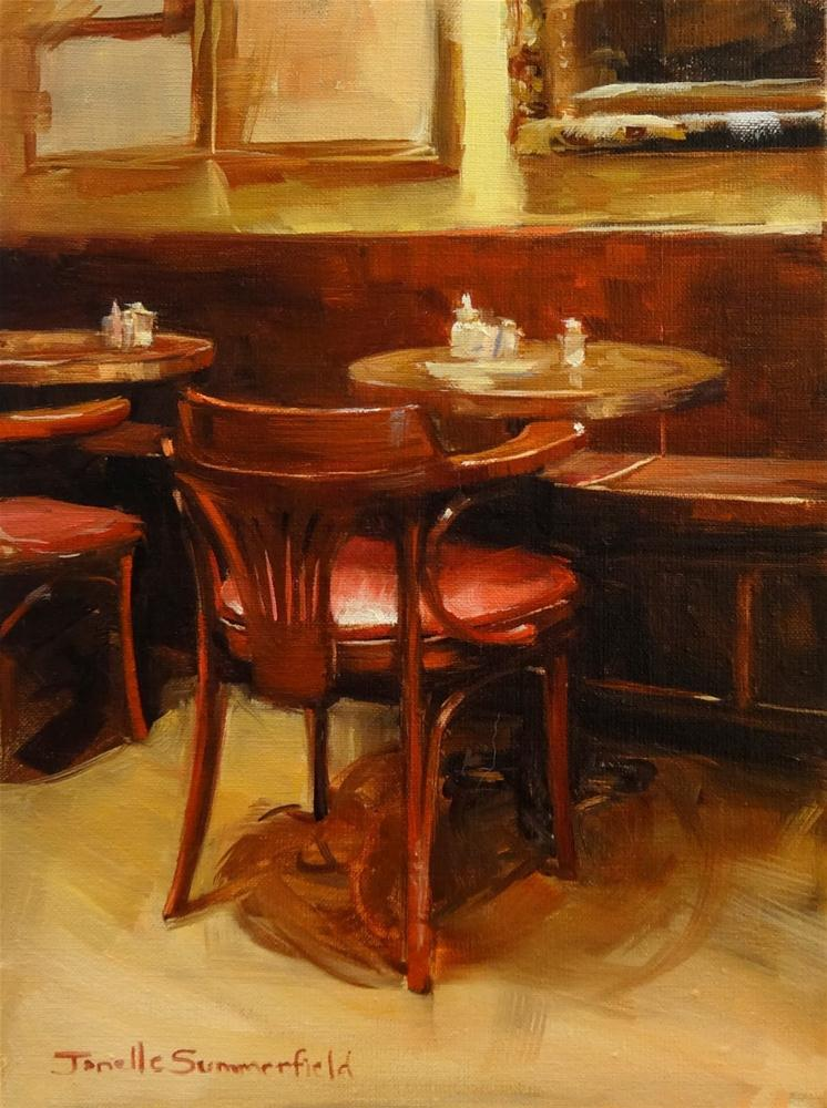 """New York Cafe"" original fine art by Jonelle Summerfield"