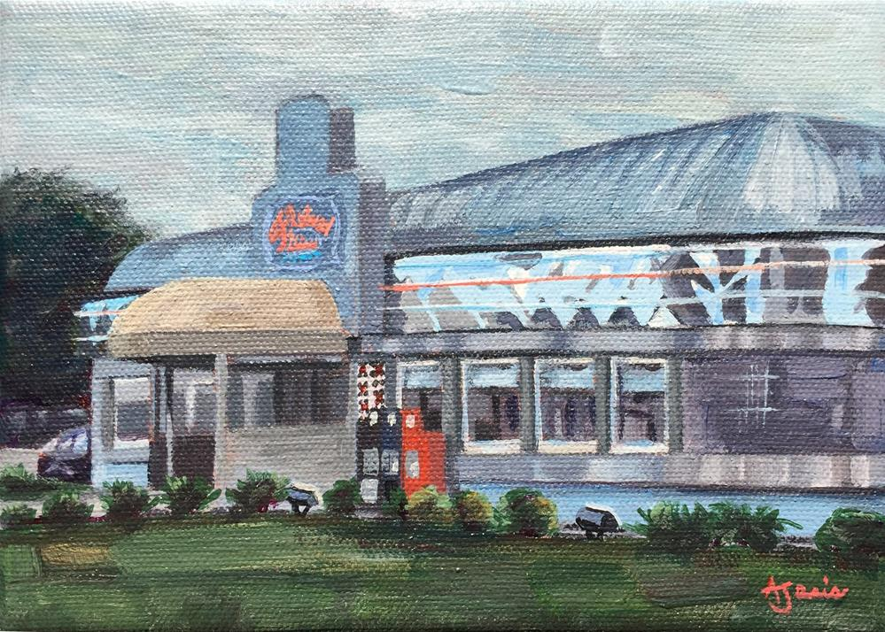 """Fleetwood Diner II"" original fine art by Andrea Jeris"
