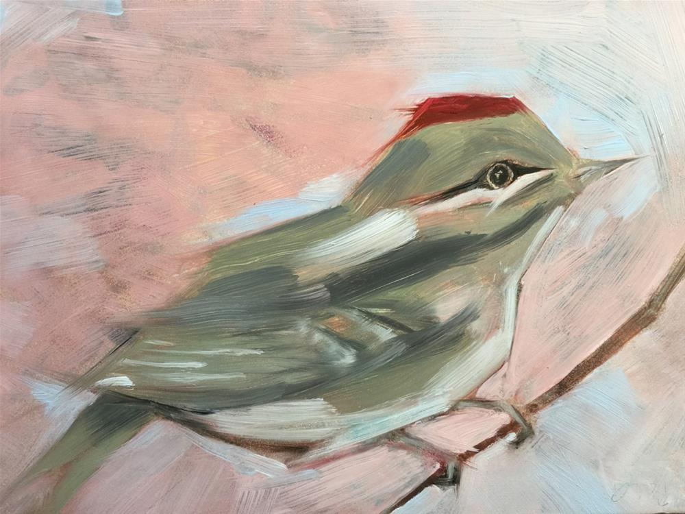 """0028ChubbyBird"" original fine art by Jenny Doh"