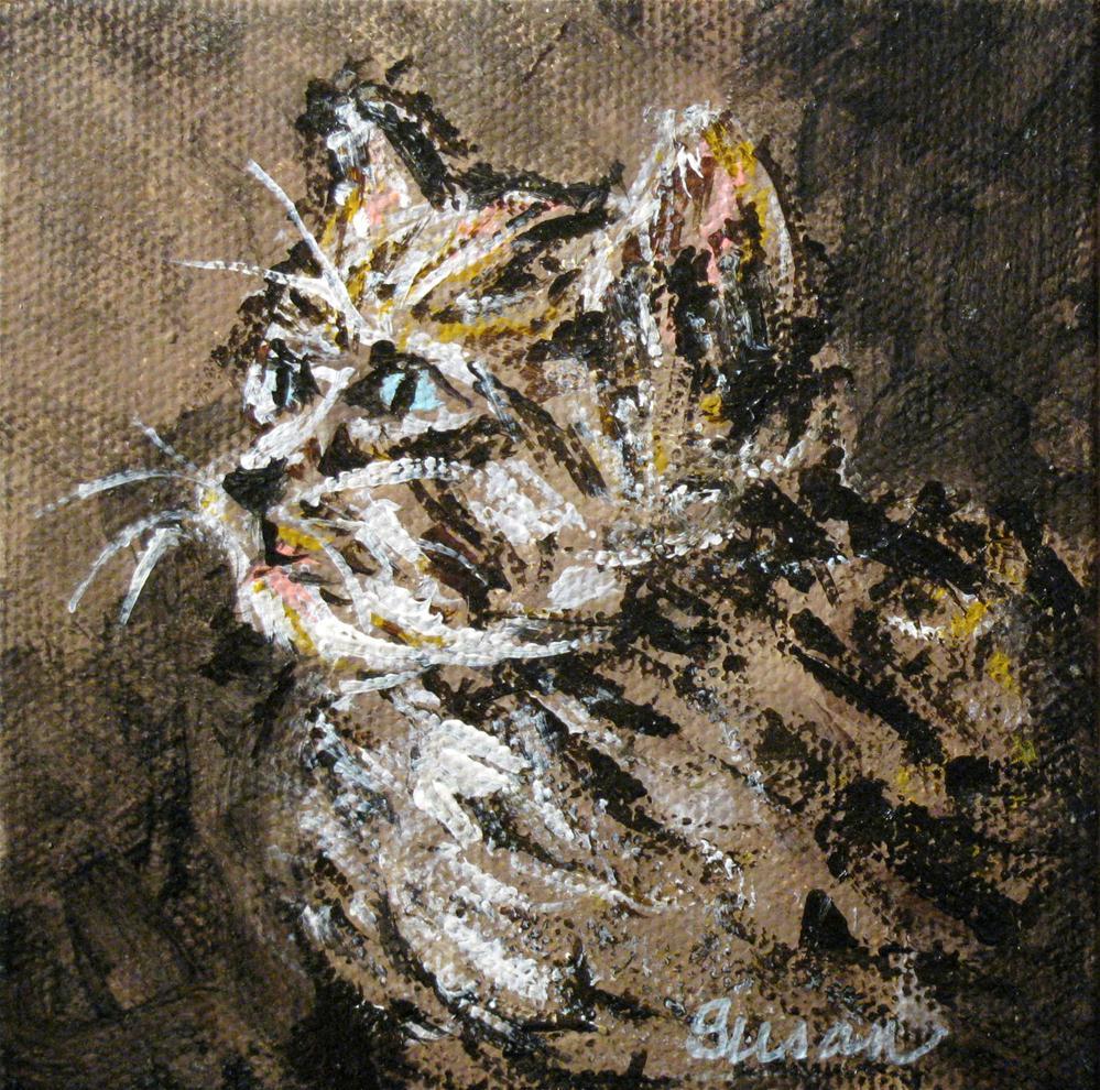 """""""Kitten"""" original fine art by Susan Elizabeth Jones"""