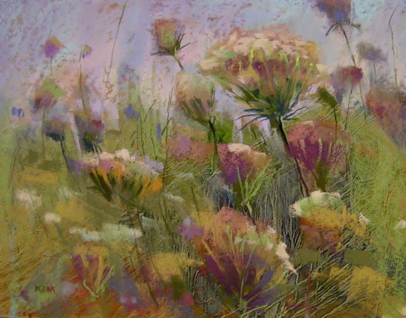 """My Six Favorite Paintings of 2011... #5 Meadow Dance"" original fine art by Karen Margulis"