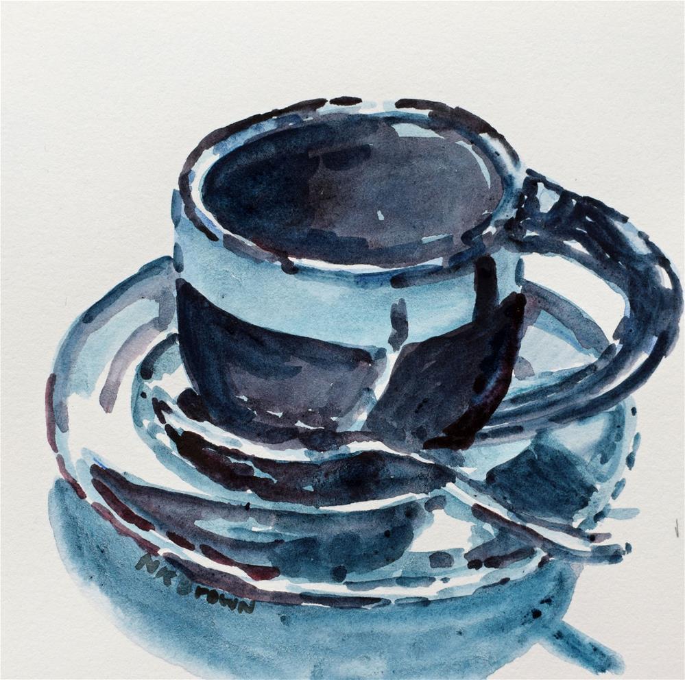 """Monday Morning Blues"" original fine art by Nancy Brown"