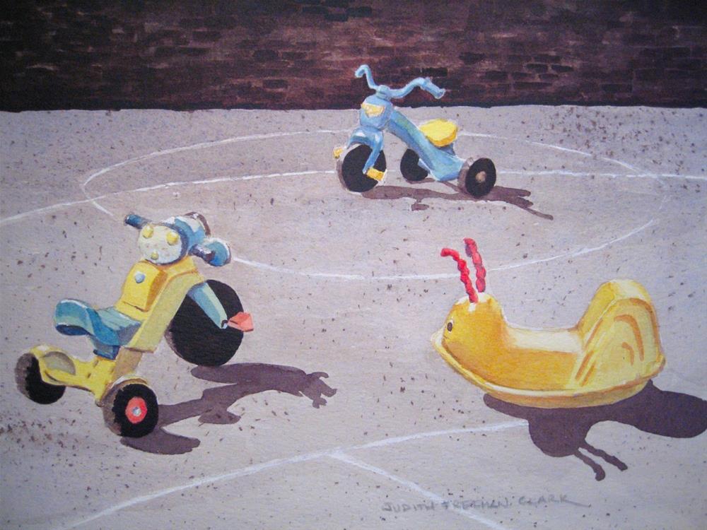 """First Day of School"" original fine art by Judith Freeman Clark"
