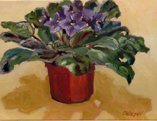 """""""Cast Shadows - Violet"""" original fine art by Carolynn Doan"""
