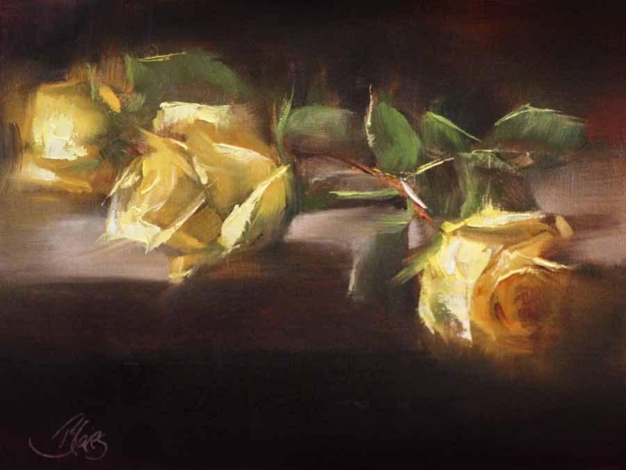 """He Knows My Favorite Color"" original fine art by Pamela Blaies"