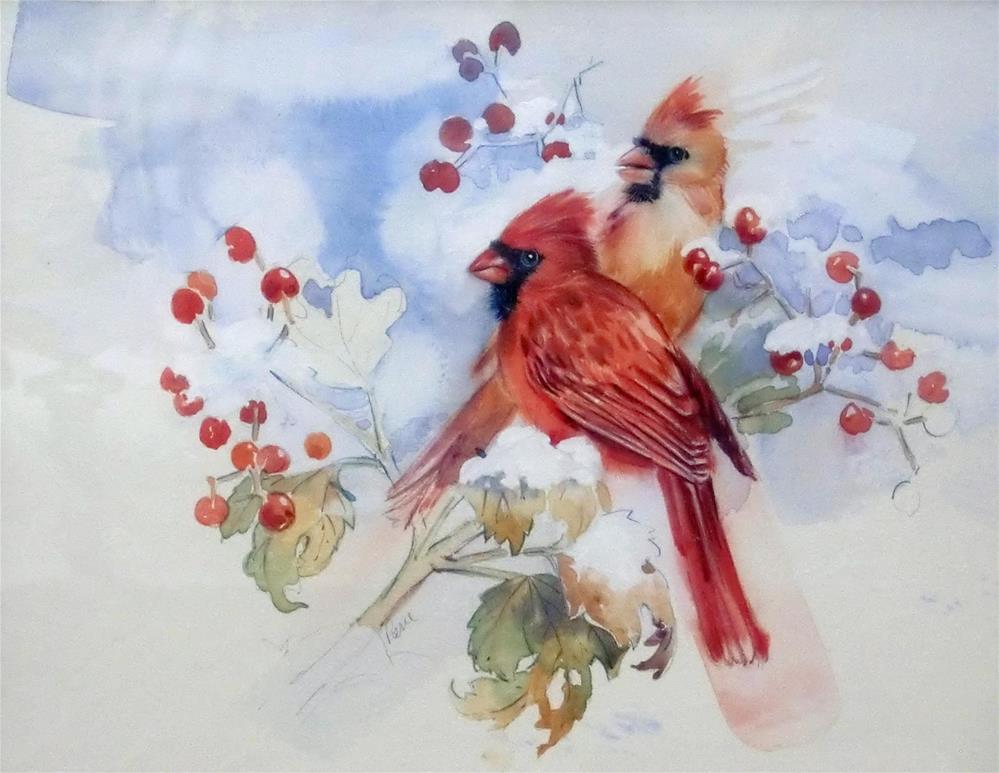 """Cardinals"" original fine art by Jean Pierre DeBernay"