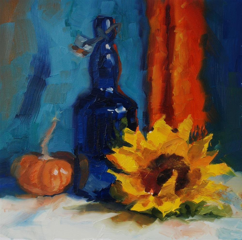 """""""No. 676 Don's Blue Bottle"""" original fine art by Susan McManamen"""