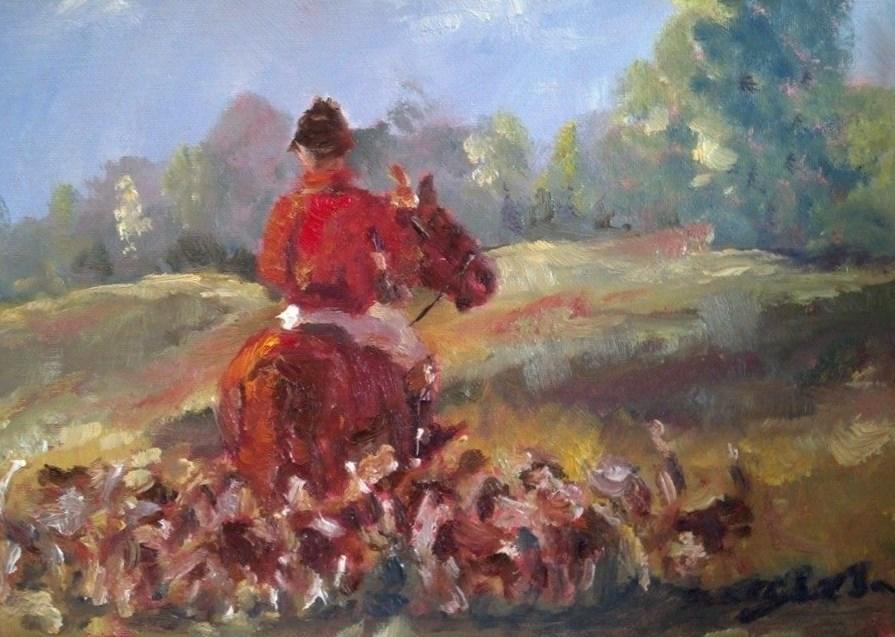 """End of the Hunt"" original fine art by Susan Elizabeth Jones"