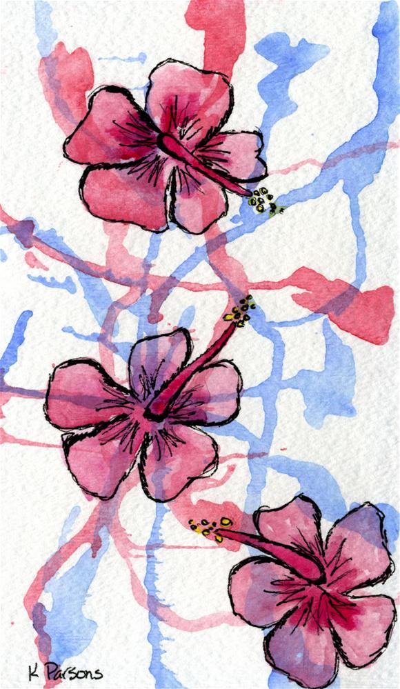 """Hibiscus Flowers"" original fine art by Kali Parsons"