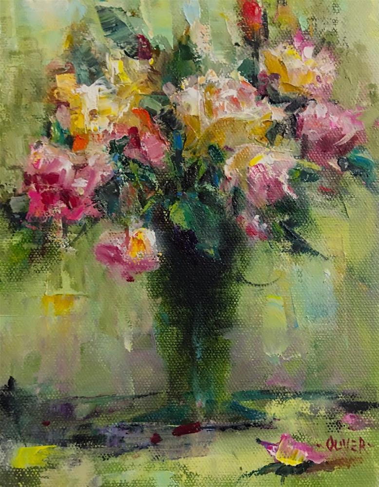 """""""Impression of Roses"""" original fine art by Julie Ford Oliver"""