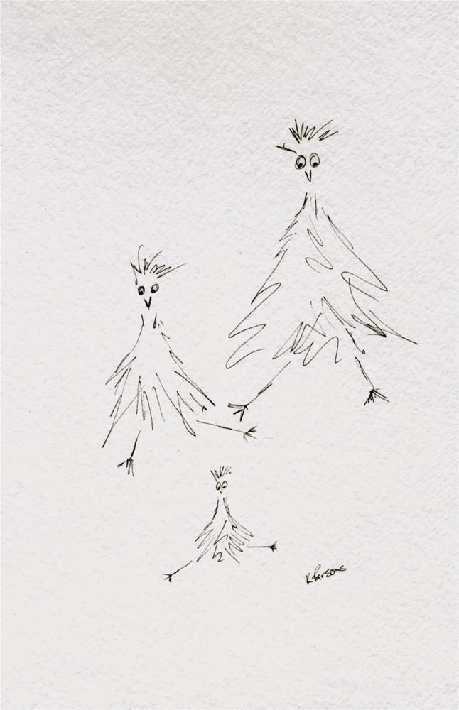 """""""Chicken Dance"""" original fine art by Kali Parsons"""