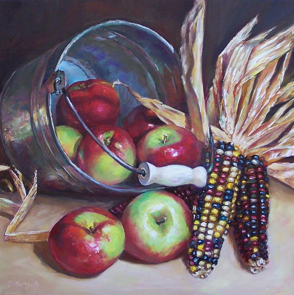"""""""Toppled Apples"""" original fine art by Donna Munsch"""