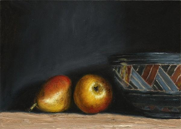 """Greek bowl with pears"" original fine art by Peter J Sandford"