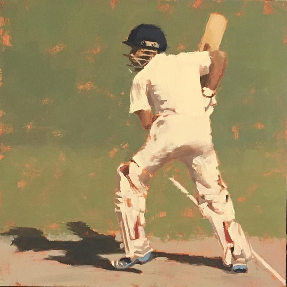 """""""V KOHLI, Team India - 4"""" original fine art by Helen Cooper"""