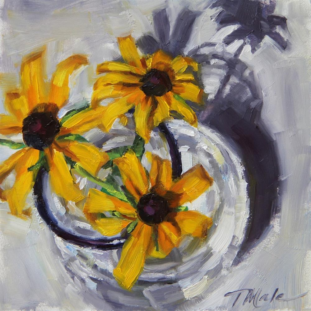 """""""Fresh Picked Daisies"""" original fine art by Tracy Male"""