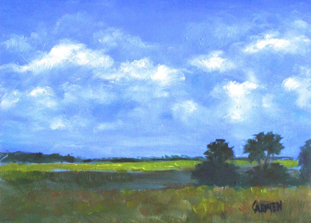 """Florida Vista, 8x6 Original Oil Painting Landscape"" original fine art by Carmen Beecher"