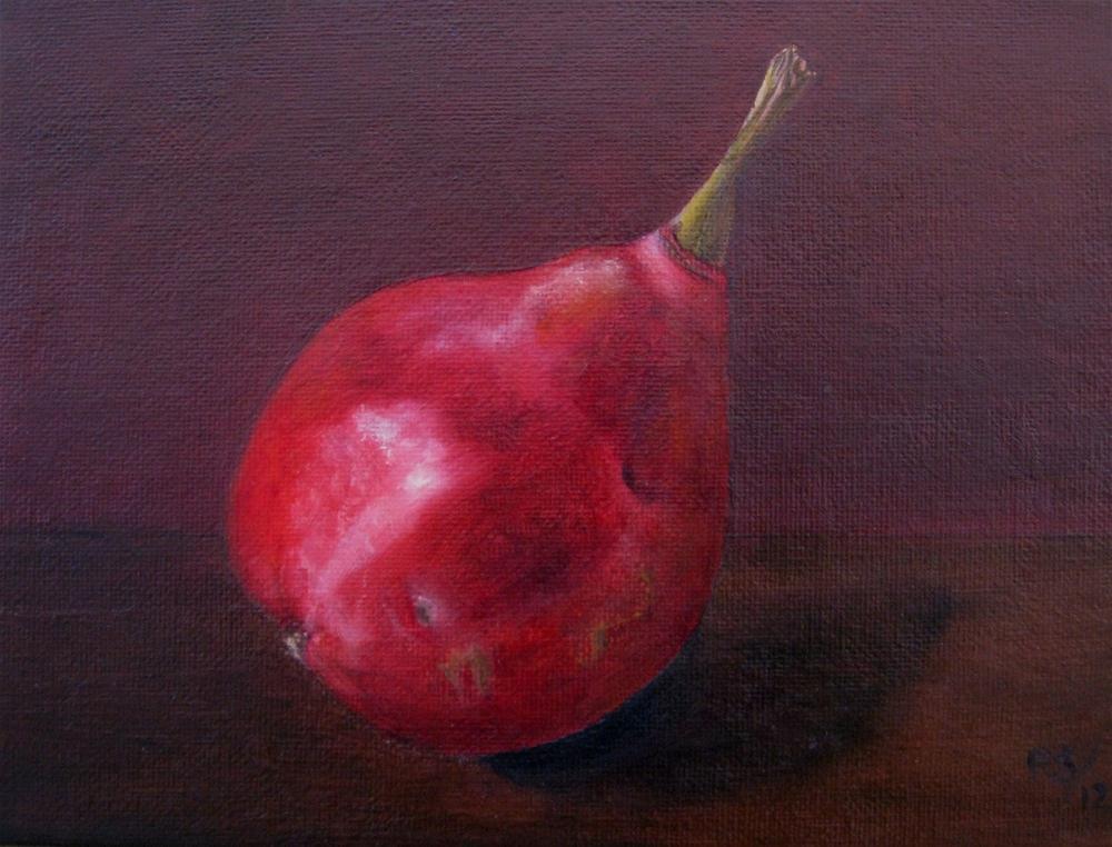 """""""Pear Rose Marie"""" original fine art by Pera Schillings"""