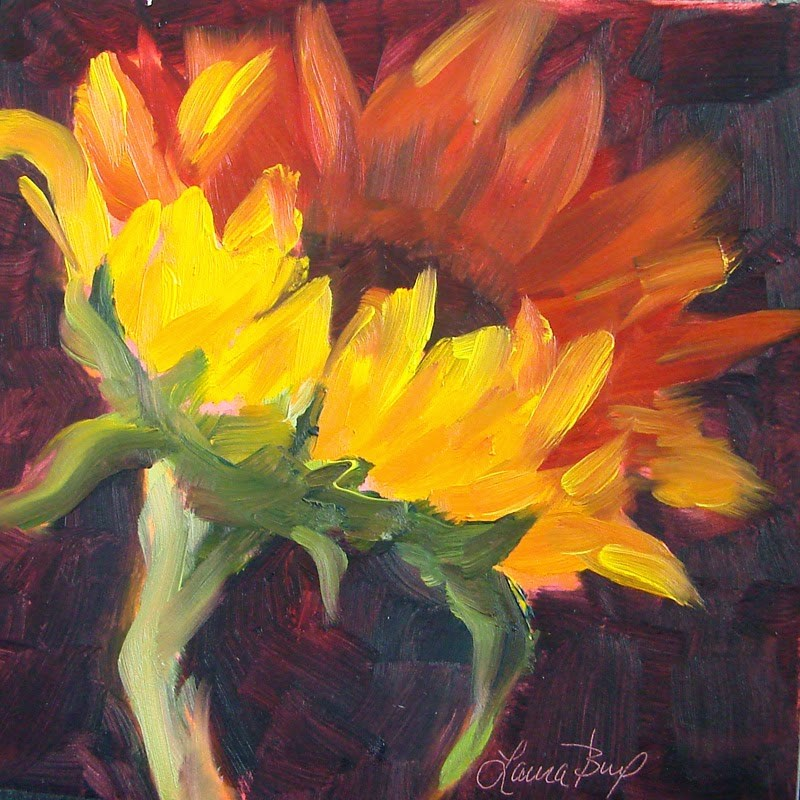 """Looking Up 197"" original fine art by Laura  Buxo"