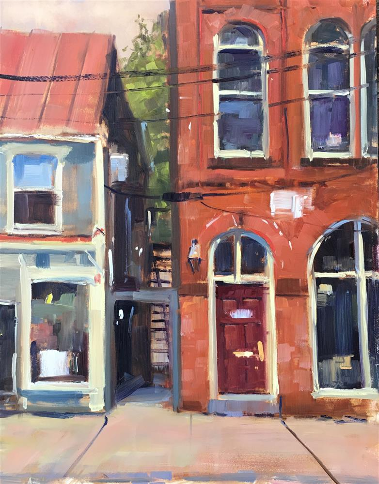 """#500 Neighborly Love"" original fine art by Patty Voje"