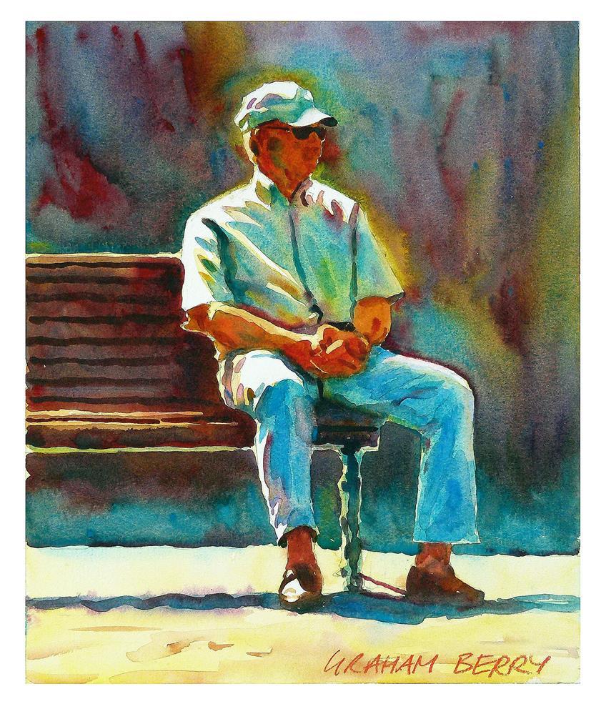 """Bench 3"" original fine art by Graham Berry"